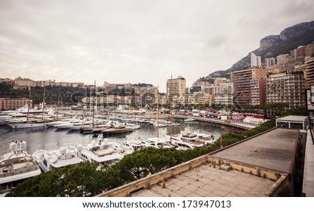 Marina of Monte Carlo in Monaco, French Riviera - stock photo