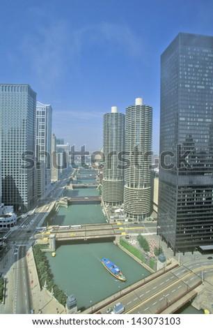 Marina Towers Apartments, Chicago, Illinois - stock photo