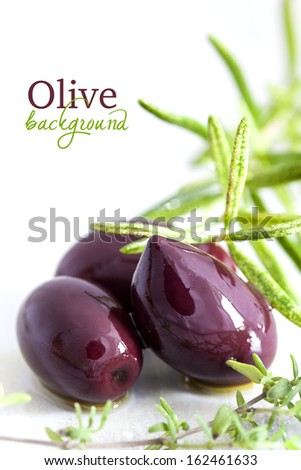 Marinate olives - stock photo