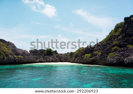 Marine Fantasy Idyllic Seascape  - stock photo