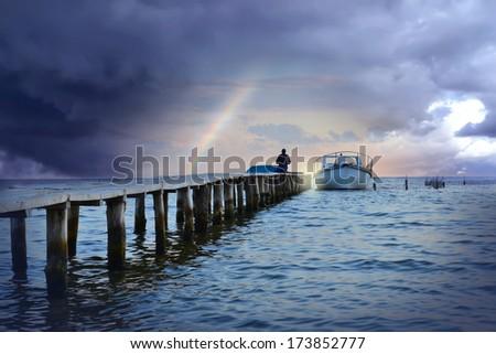 Marine landscape - stock photo