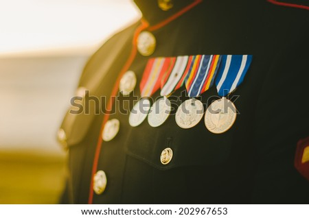 Marine Medals - stock photo