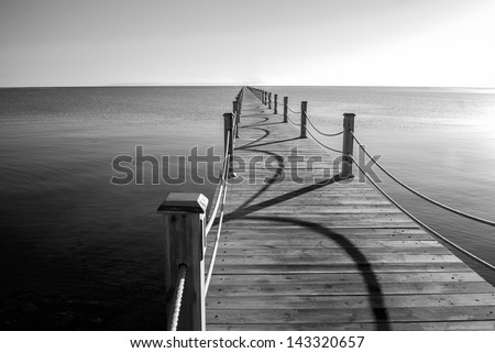 marine pier - stock photo