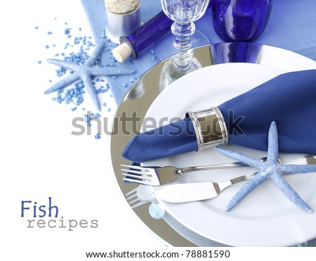 Marine table setting - stock photo