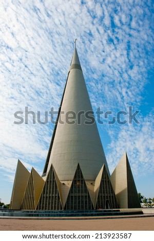 Maringa, Brazil - May 17, 2014: Minor Basilica of Our Lady of Glory, Maringa, Parana, Brazil  - stock photo