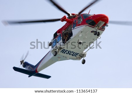 Maritime rescue helicopter. - stock photo