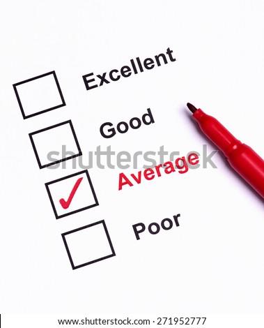 Mark Average on performance  evaluation - stock photo