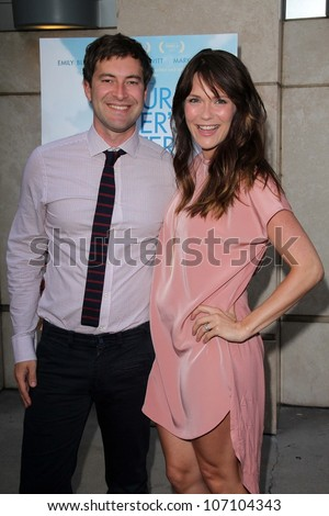 """Mark Duplass, Katie Aselton at the """"Your Sister's Sister"""" Los Angeles Premiere, Arclight, Hollywood, CA 06-11-12 - stock photo"""