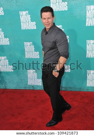 Mark Wahlberg at the 2012 MTV Movie Awards at Universal Studios, Hollywood. June 4, 2012  Los Angeles, CA Picture: Paul Smith / Featureflash - stock photo