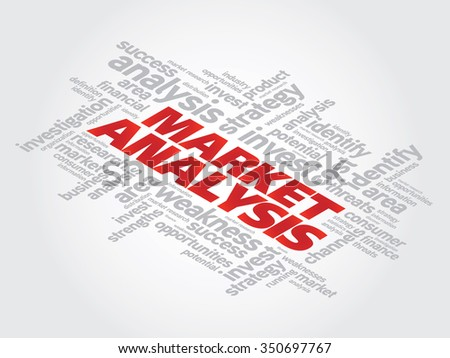 Market Analysis business concept words cloud background - stock photo
