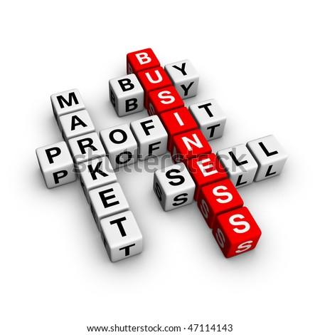 market crossword - stock photo