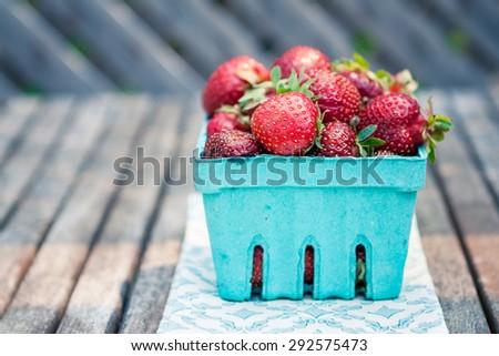 Market Fresh Strawberries - stock photo
