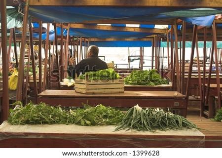 market hall - stock photo
