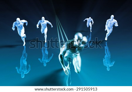 Market Leader and Beating the Competition as Concept - stock photo