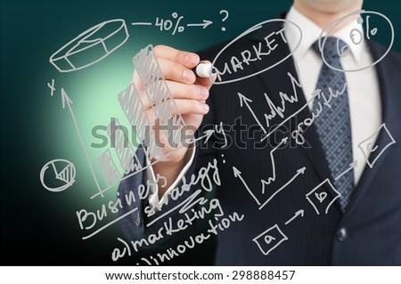 Market, marketing, business. - stock photo