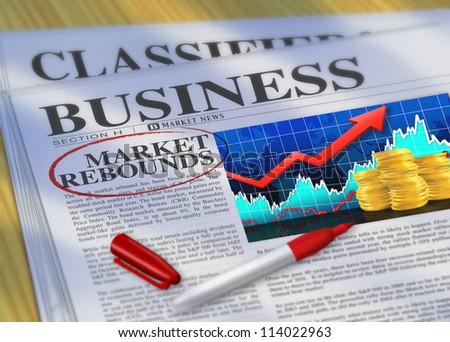 Market Rebounds - stock photo