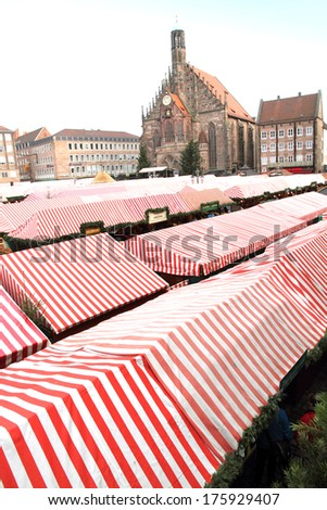 Market square Christmas in Nuremberg Germany - stock photo