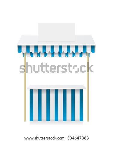 Market stall shop illustration - stock photo