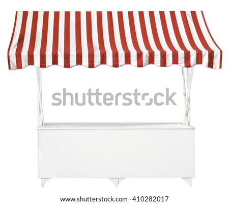 Market stall with awning - stock photo