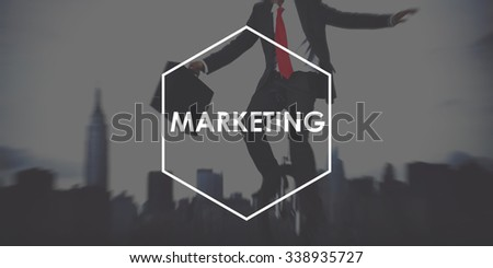 Marketing Analysis Branding Advertisement Business Concept - stock photo
