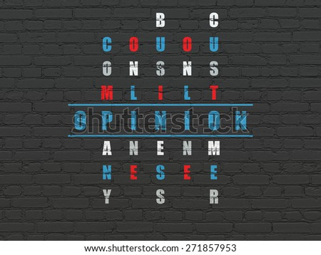 Marketing concept: Painted blue word Opinion in solving Crossword Puzzle, 3d render - stock photo
