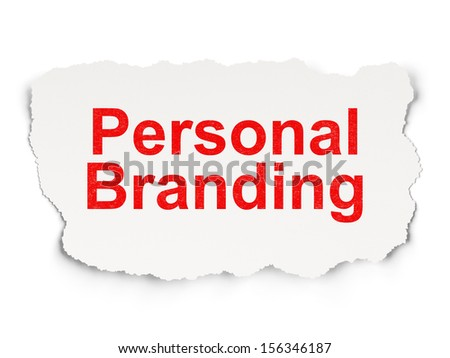Marketing concept: torn paper with words Personal Branding on Paper background, 3d render - stock photo