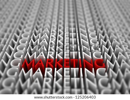 Marketing 3d text background - stock photo