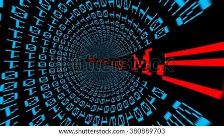 Marketing data tunnel - stock photo