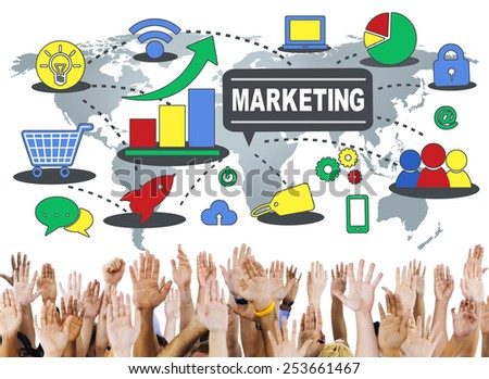 Marketing Global Business Branding Connection Growth Concept - stock photo