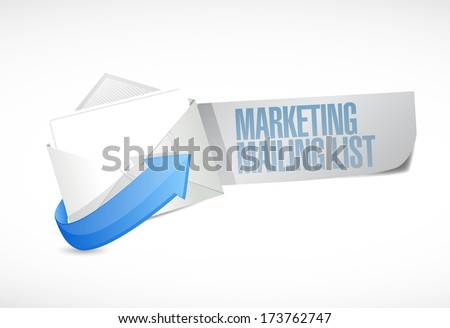 marketing mailing list email illustration design over a white background - stock photo