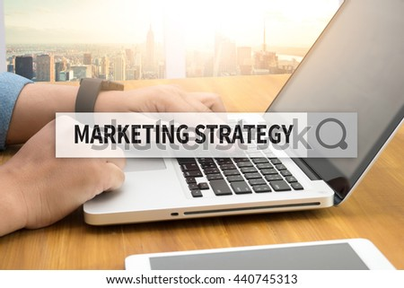 MARKETING STRATEGY SEARCH WEBSITE INTERNET SEARCHING - stock photo