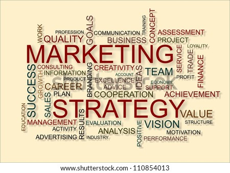 marketing strategy written in business word cloud - stock photo