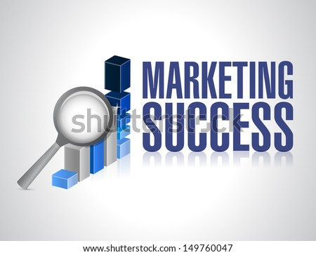 marketing success graph investigation and exploration. illustration design - stock photo