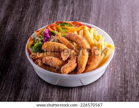 Marmita, meal to take. - stock photo