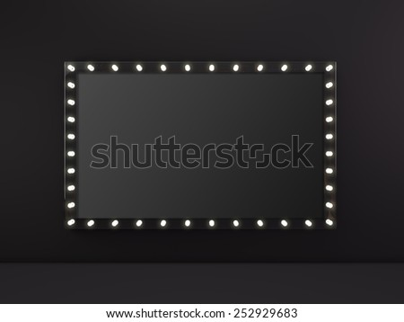 Marquee light empty board sign - stock photo