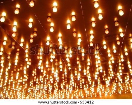 Marquee Lighting in Las Vegas, Nevada - stock photo
