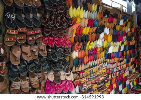 MARRAKECH, MOROCCO - CIRCA MAY 2013: Streets of Marrakech in old town Medina - stock photo