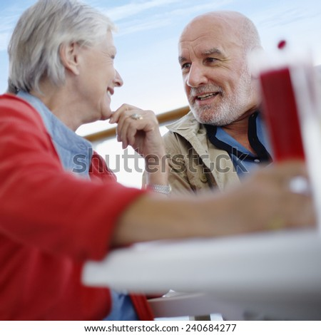 Married Couple Outdoors Together - stock photo