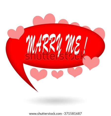 Marry Me - stock photo