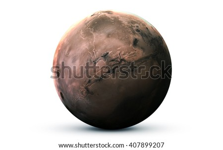 Mars - High resolution 3D images presents planets of the solar system. This image elements furnished by NASA - stock photo