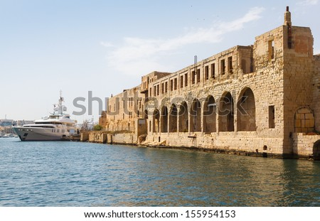 Marsamxett Harbour, Malta, quarantine harbor - stock photo