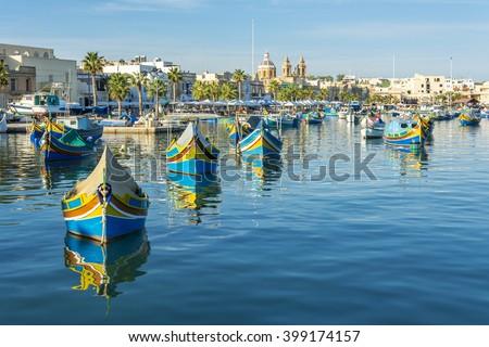Marsaxlokk Village in Malta - stock photo