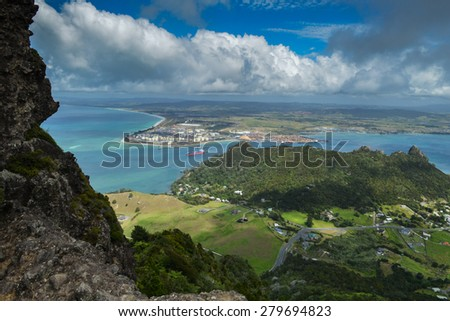 Marsden Point, North Island, New Zealand - stock photo