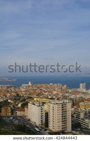 Marseille Cityscape - stock photo