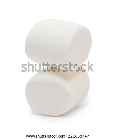 Marshmallows isolated on white background  - stock photo
