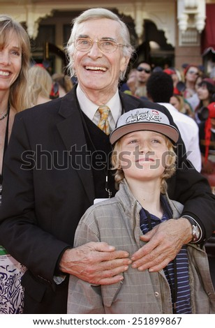 """Martin Landau attends the World Premiere of """"Pirates of the Caribbean: At World's End"""" held at Disneyland in Anaheim, California on May 19, 2007. - stock photo"""