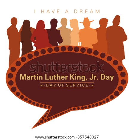 Martin Luther King Day - stock photo