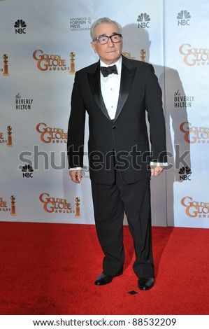 Martin Scorsese at the 67th Golden Globe Awards at the Beverly Hilton Hotel. January 17, 2010  Beverly Hills, CA Picture: Paul Smith / Featureflash - stock photo