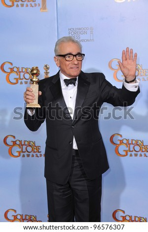Martin Scorsese at the 69th Golden Globe Awards at the Beverly Hilton Hotel. January 15, 2012  Beverly Hills, CA Picture: Paul Smith / Featureflash - stock photo