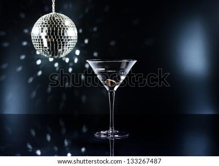 Martinis on the dance floor with nice illumination - stock photo